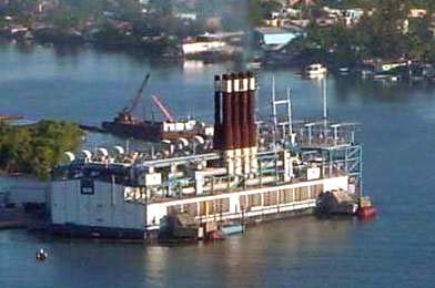 Onshore conection La Sultana 150MW power barge – Wartsila