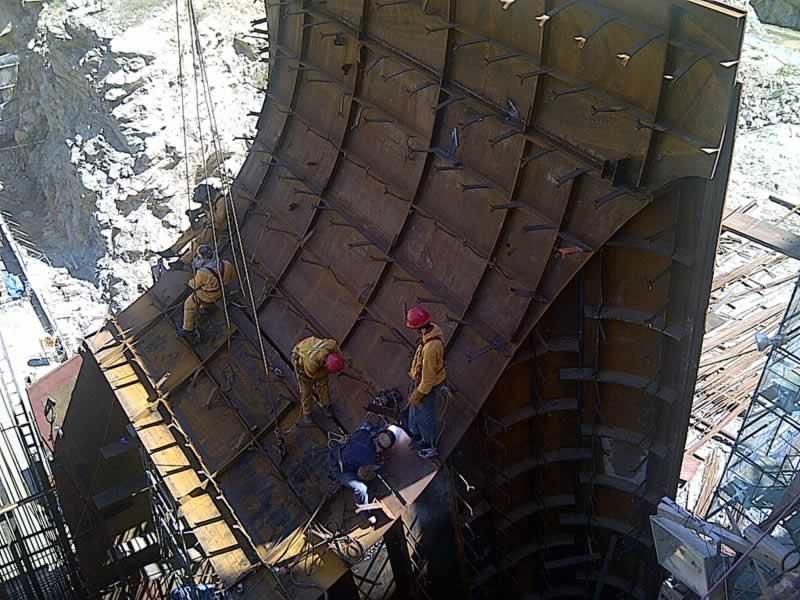 Shielding of tailrace Palomino – Constructora Norberto Odebrecht