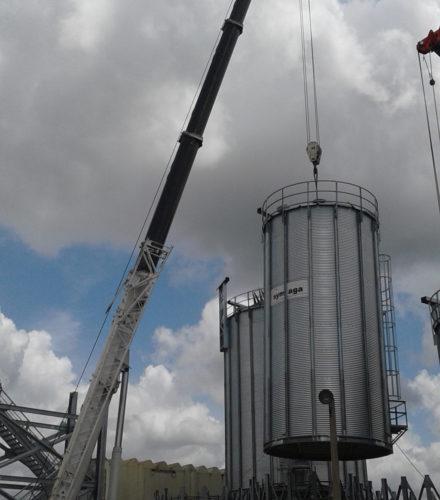 Instalación de Silos y Equipos de Materia Prima – Cervecería Nacional Dominicana