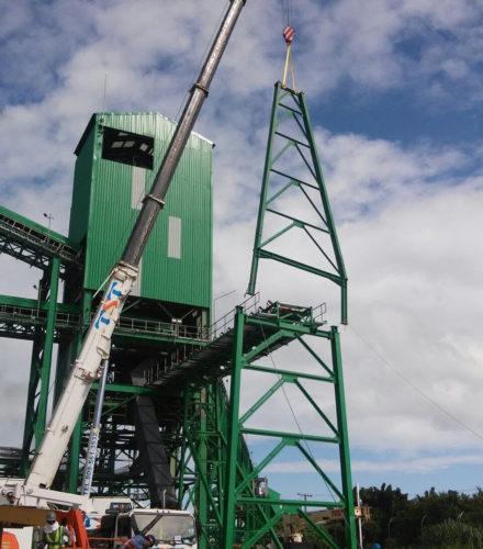 Instalación Cinta transportadora – San Pedro Bioenergy